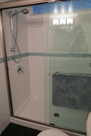 Merrickville Guest Suites: large squeaky clean shower
