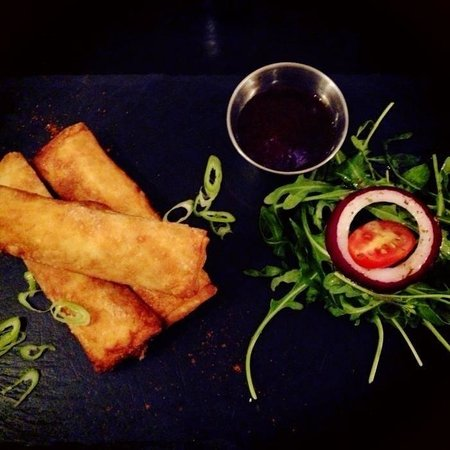 Verve: Homemade duck spring rolls are delicious