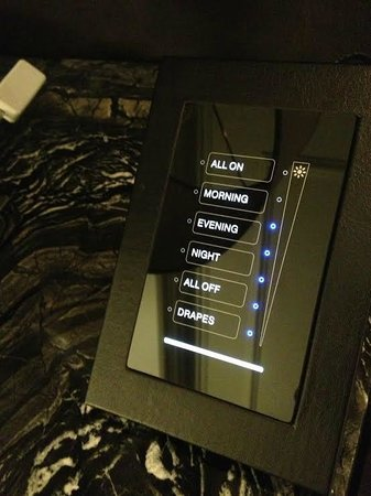 Trump International Hotel & Tower Toronto: All your light controls and electric drapes. I want this at home