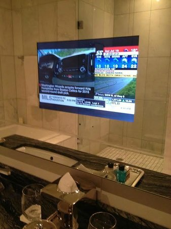 The Adelaide Hotel, Toronto: TV in the mirror ( which I didn't use) but still adds to the cool factor
