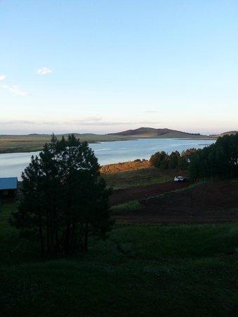 McNary, AZ : Sunrise Lake from our balcony