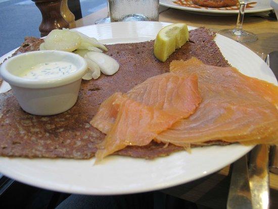 Galette Café : Super delicious smoked salmon