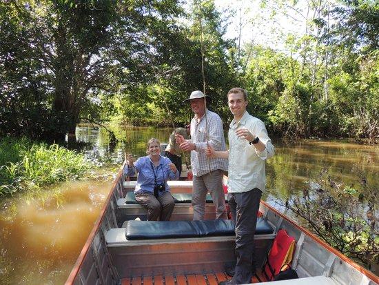 Ceiba Tops Lodge by Explorama: Fishing for pirahna.