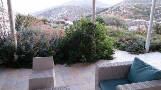 Anemolithi Studios: Άποψη του κήπου και της βεράντας μας