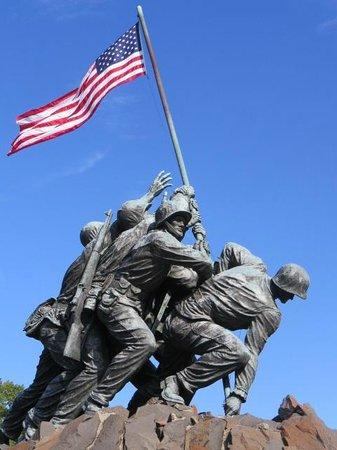 U.S. Marine Corps War Memorial: Powerfull