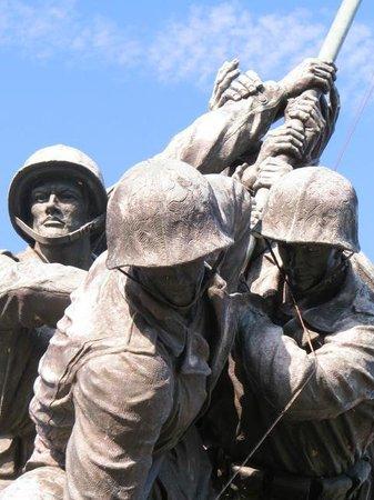 U.S. Marine Corps War Memorial: Detail from the memorial