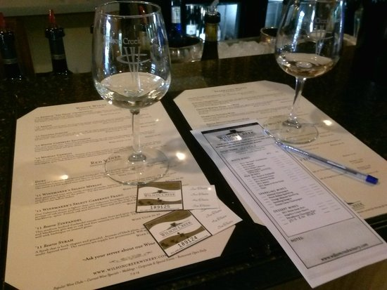Wilson Creek Winery: Wine tasting