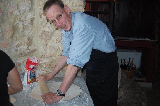 Nena al Borgo Castello: My husband making pasta