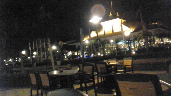 Grand Bahia Principe La Romana: late night in front of resort where we danced outside nightly