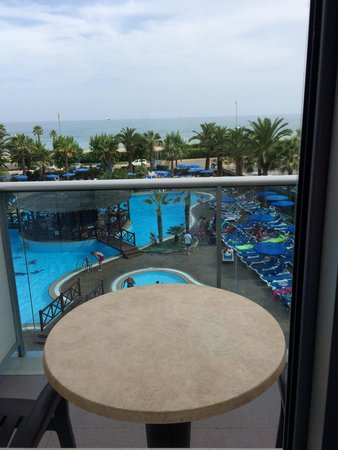 Golden Taurus Park Resort: View from family suite, 2nd floor, overlooking pool/sea