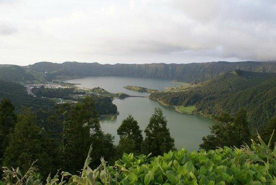 Caldeira das Sete Cidades : Lagoa Sete Cidades (mirador do Rei)