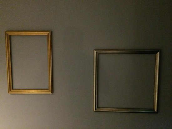 Hallway Decor Finished Or Just Empty Frames Picture Of