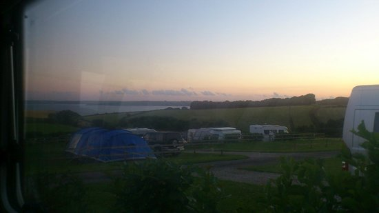 Penhale Caravan and Camping Park : Sunset