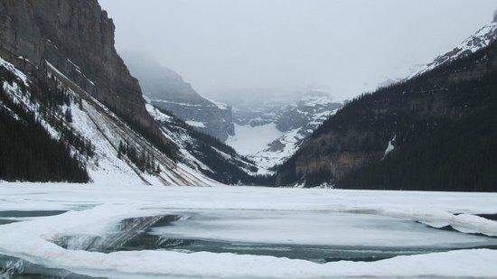 Fairmont Chateau Lake Louise: Lake Louise and the glacier