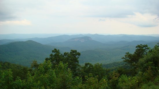 Picture of looking glass rock near Pisgah Inn