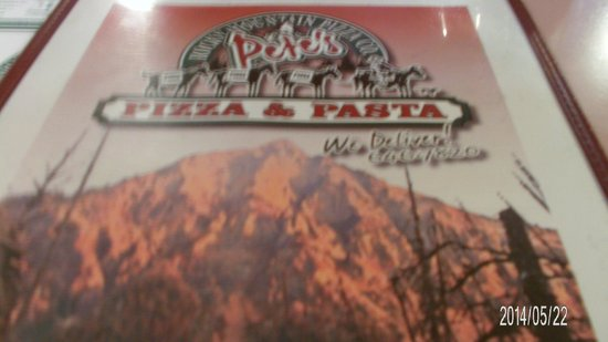 Pete's Rocky Mountain Pizza Company: Name Plate