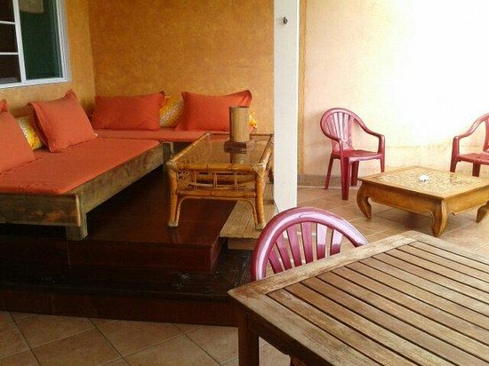 Sunset Hill Lodge : la tres agreable terrasse
