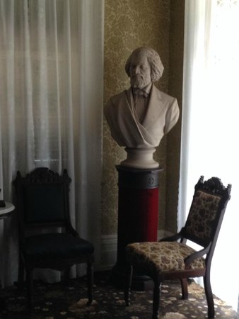 Frederick Douglass National Historic Site: Douglass bust in the west parlor room