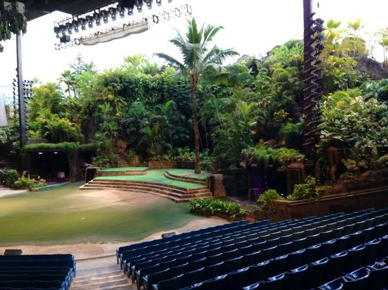 Polynesian Cultural Center: Great amphitheater for stage show at night