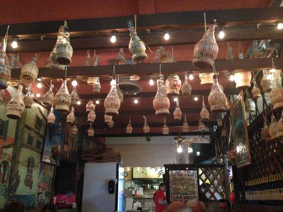 Filippi's Pizza Grotto : Loved the bottles hanging