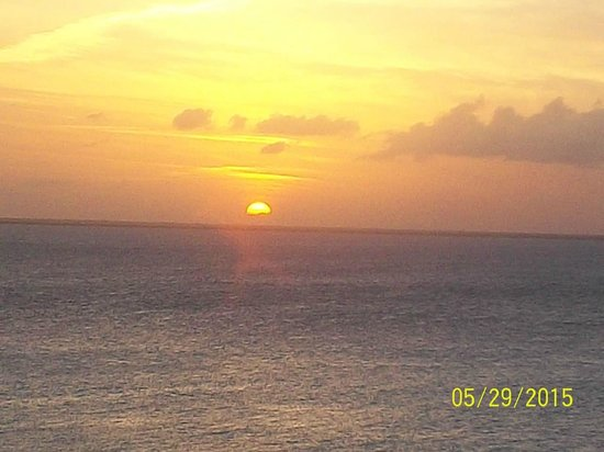 Sunset from our rooftop overlooking Playa Norte