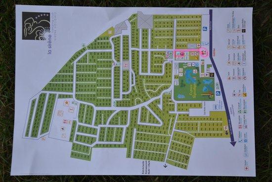 plan du camping avec num ros d 39 emplacement picture of camping la sirene argeles sur mer. Black Bedroom Furniture Sets. Home Design Ideas