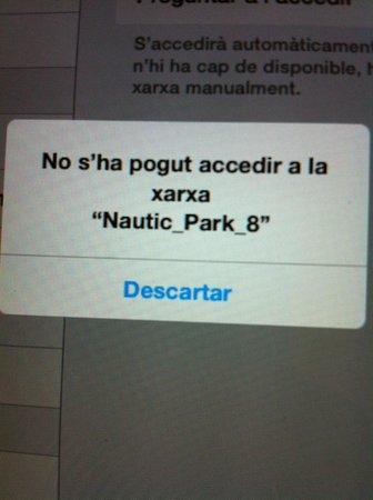 ALEGRIA Nautic Park: Sin wifi