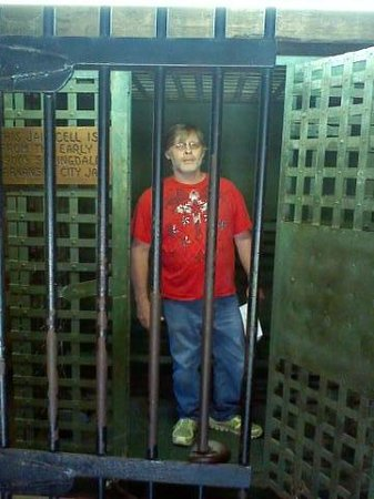 Har-Ber Village: my husband in a 1800 jail from Ark.