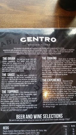 Centro Woodfired Pizzeria : The mission