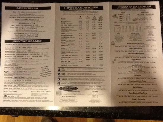Chad's Deli & Bakery: Chad's lunch/dinner menu side 2