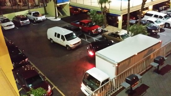 Alden Suites: Out of control parking situation, parked in fire zones