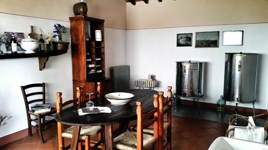 Tuscan Wine Tours by Grape Tours: One of the wine tasting rooms