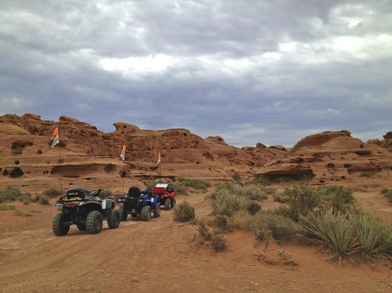 ATV and Jeep Adventure Tours: a view of the rock formations