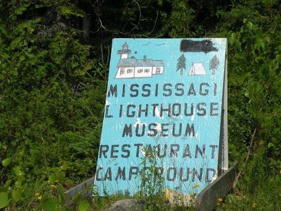 Mississagi Light House: Sign at Meldrum Bay.