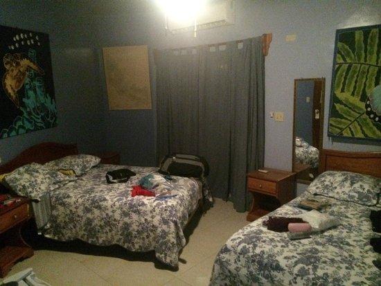 Hotelito Del Mar: room...it was dark but you can get the idea