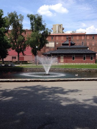 Lititz Springs Park: Wilbur Chocolates in background