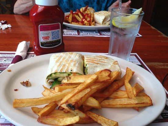 Clinton Station Diner: My lunch, a veggie wrap.