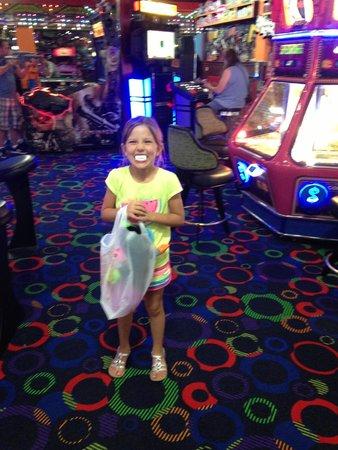Rockin' Raceway Arcade: She left a very happy little girl!