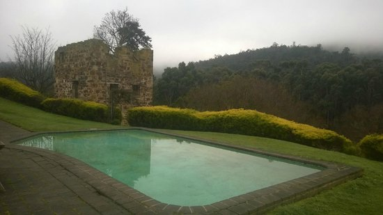 Tynwald Willow Bend Estate: pool and old flour mill