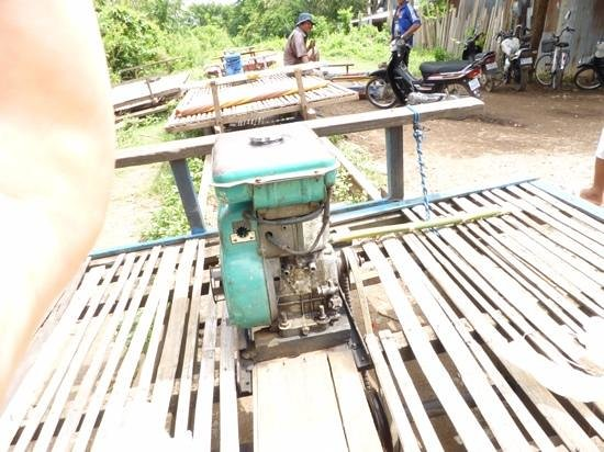 Bamboo Train: not quite a train