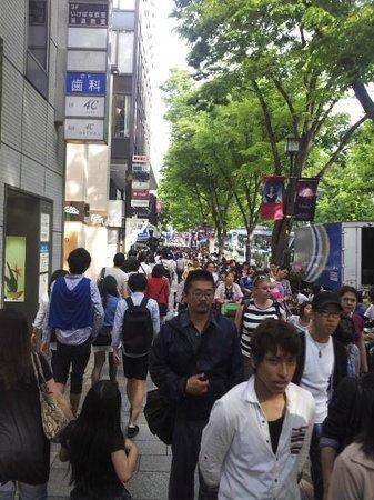 Omotesando : the crowd during Golden Week