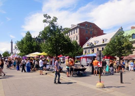 Old Montreal: Lots of activity every day