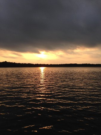 Birchwood, WI: Sunset over Red Cedar Lake