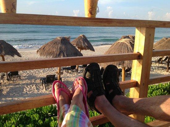 Now Jade Riviera Cancun : The Wedding Pergola, early morning.