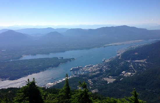 Deer Mountain Trail: View of Ketchikan from the top