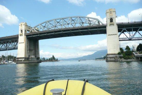 Sea Vancouver: Cruising toward the Burrard Street Bridge.