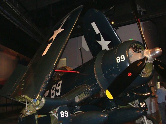 The Museum of Flight: Military aircraft on display.