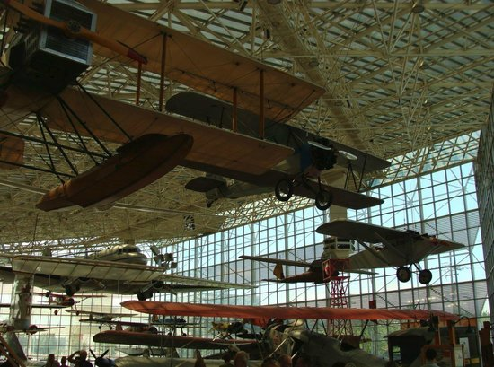 The Museum of Flight: Aircraft on display.