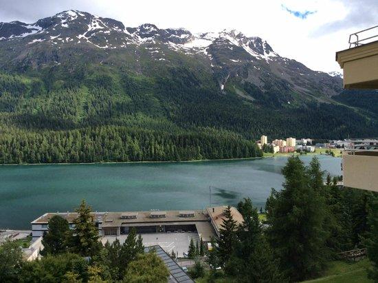 Kulm Hotel St. Moritz: Zimmeraussicht