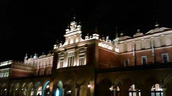 Historic Old Town : Main square at night